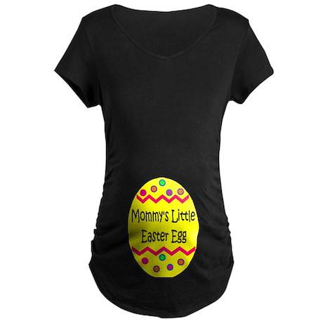 Mommy's Little Easter Egg Maternity Dark T-Shirt