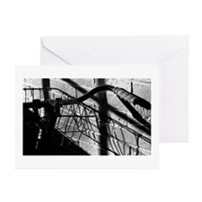 Cute Black and white bicycle Greeting Cards (Pk of 10)