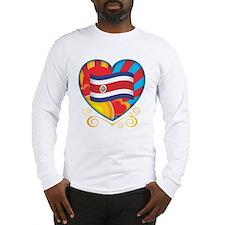 Costa Rican Heart Long Sleeve T-Shirt