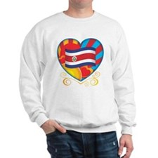 Costa Rican Heart Sweatshirt