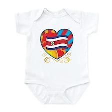 Costa Rican Heart Infant Bodysuit