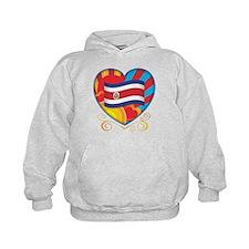 Costa Rican Heart Hoodie