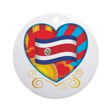 Costa Rican Heart Ornament (Round)