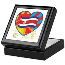 Costa Rican Heart Keepsake Box