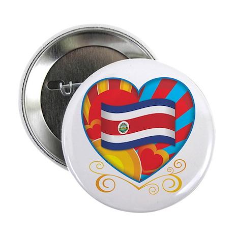 "Costa Rican Heart 2.25"" Button"