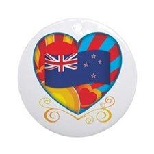 New Zealand heart Ornament (Round)