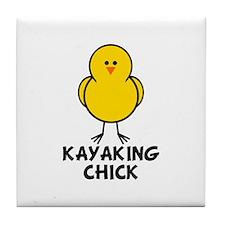 Kayaking Chick Tile Coaster
