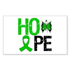 Kidney Cancer Hope Rectangle Decal