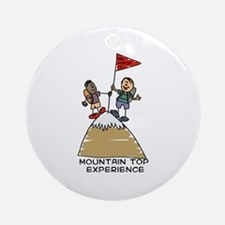 mountain top experience Ornament (Round)