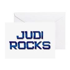 judi rocks Greeting Card