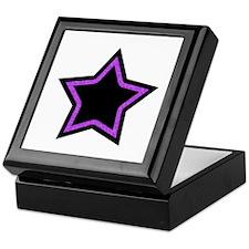 Black Glitter Star Keepsake Box