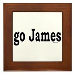 go James Framed Tile
