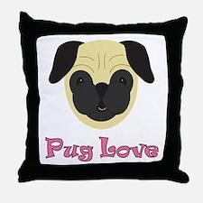 Pug Love! Throw Pillow