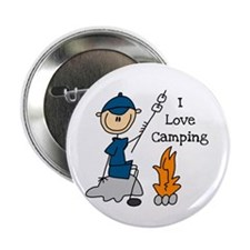 """I Love Camping 2.25"""" Button"""