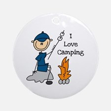 I Love Camping Ornament (Round)