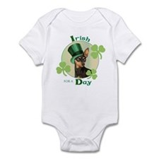 St. Patrick Min Pin Infant Bodysuit