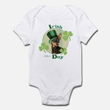 St. Patrick Min Pin Infant Bodysuit