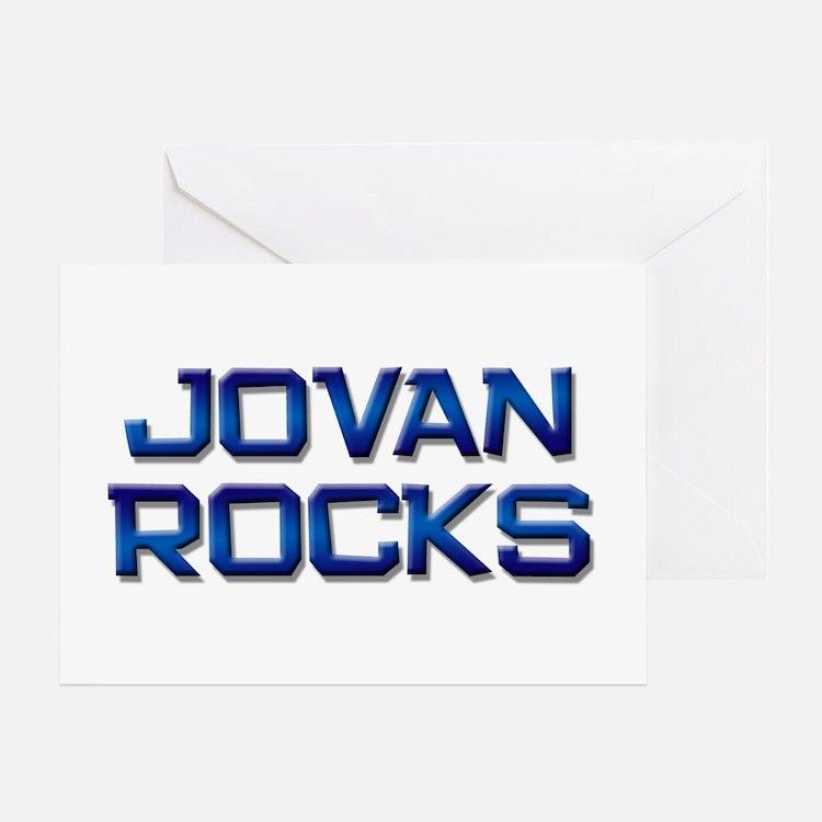 jovan rocks Greeting Card
