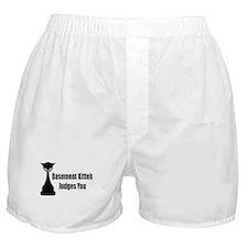 Basement Kitteh Judges You Boxer Shorts