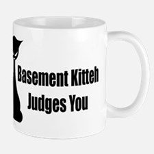 Basement Kitteh Judges You Mug