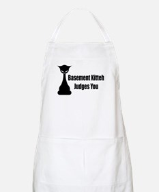 Basement Kitteh Judges You BBQ Apron