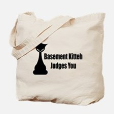 Basement Kitteh Judges You Tote Bag