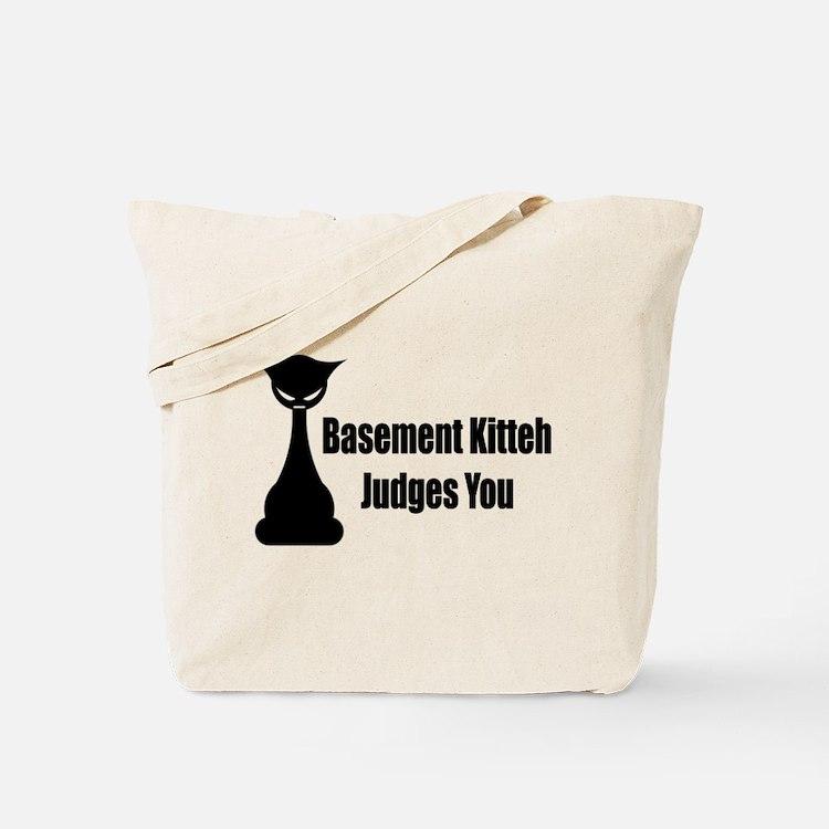 Basement Kitteh Judges You Tote Bag