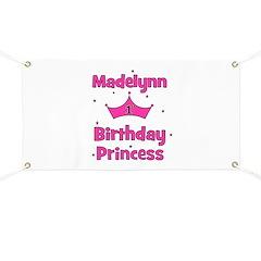1st Birthday Princess Madelyn Banner
