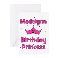 1st Birthday Princess Madelyn Greeting Cards (Pk o