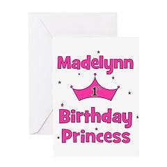 1st Birthday Princess Madelyn Greeting Card