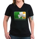 Irish Drinking League Women's V-Neck Dark T-Shirt