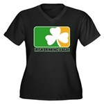 Irish Drinking League Women's Plus Size V-Neck Dar