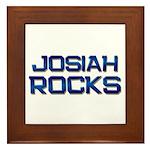 josiah rocks Framed Tile
