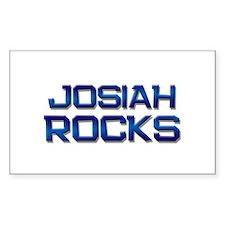 josiah rocks Rectangle Decal