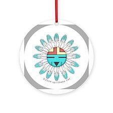 Christmas Hopi Sunface Ornament (Round)