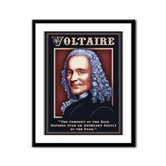 Voltaire Needs the Poor Framed Panel Print
