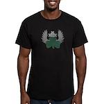 Winged Shamrock Men's Fitted T-Shirt (dark)