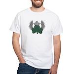 Winged Shamrock White T-Shirt