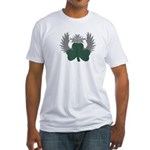 Winged Shamrock Fitted T-Shirt