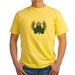 Winged Shamrock Yellow T-Shirt