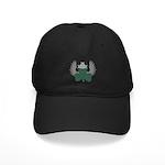 Winged Shamrock Black Cap