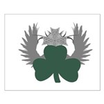 Winged Shamrock Small Poster