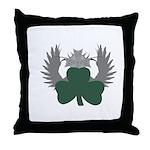 Winged Shamrock Throw Pillow
