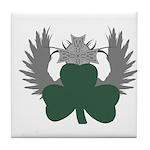 Winged Shamrock Tile Coaster