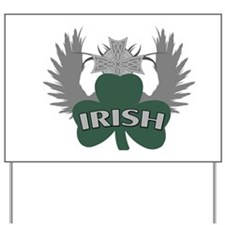 Irish Shamrock Celtic Cross Yard Sign