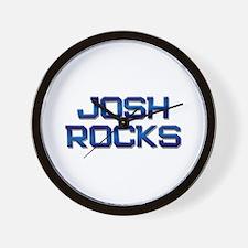 josh rocks Wall Clock