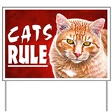 Cat tabby Yard Signs
