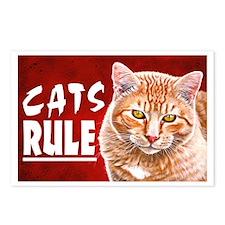 Orange Tabby CATS RULE Postcards (Package of 8)