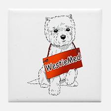 WestieMed Logo Tile Coaster