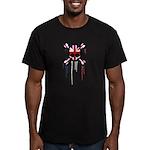 British Punk Skull Men's Fitted T-Shirt (dark)